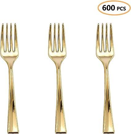 Silver Plastic Forks Silver Flatware 25 Pack Small Silver Forks Mini Dessert Forks Silver Appetizer Forks Silver Dessert Forks