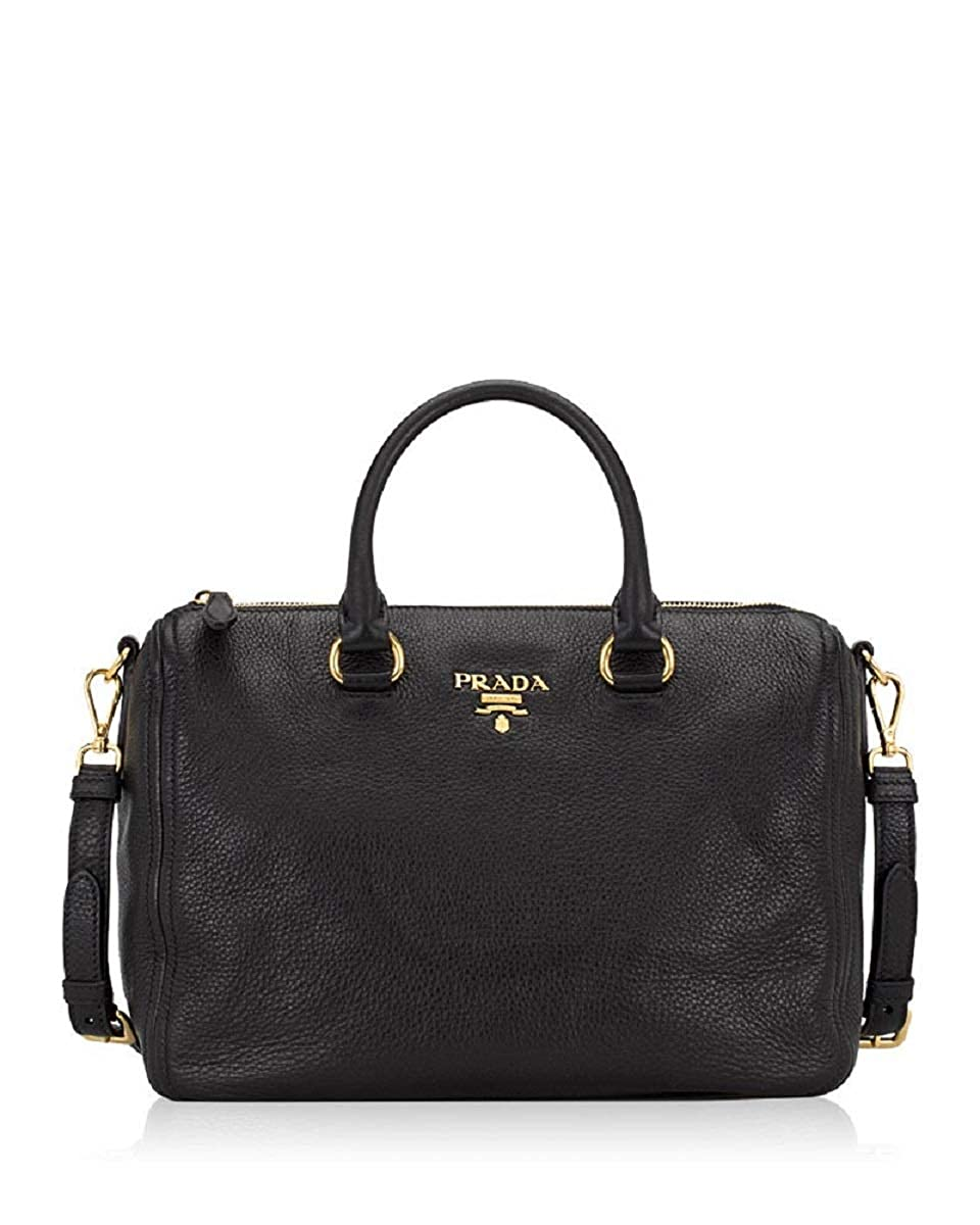 eddf6a4883 Prada Bauletto Women's Black Nero Vitello Phenix Handbag 1BB023: Amazon.ca:  Shoes & Handbags