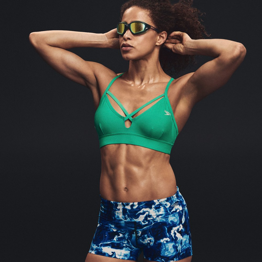 b305957ee714f Speedo Women s Aqua Elite Strappy Bikini Top - Choose SZ color