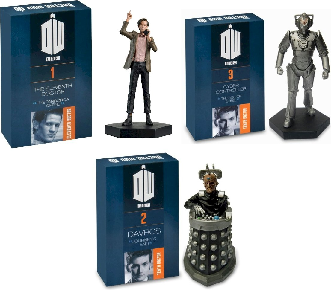 Figure Bundle #2-11th Doctor, Davros, Cyber-Controller DOCTOR WHO Figurine Collection Hand Painted Figures 1:21 Scale Collector Boxed Models /…