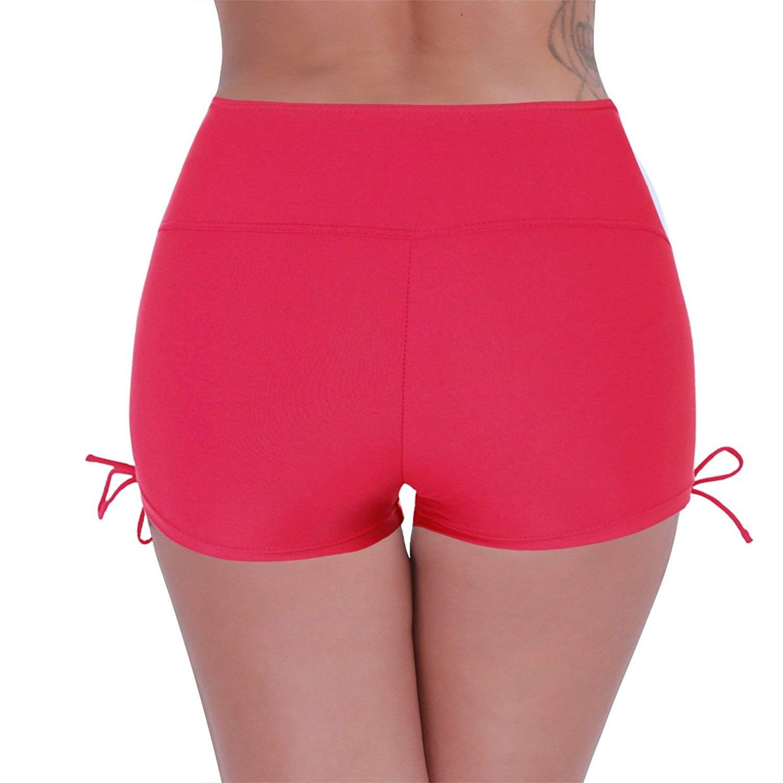 CHICTRY Women's Sports Swim Shorts Boyleg Board Shorts Bikini Tankini Bottoms Swimwear