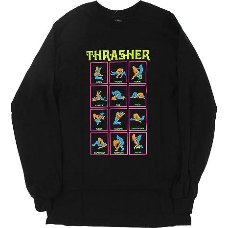 6fbaf7e6f1e6 Image Unavailable. Image not available for. Color: Thrasher Magazine Black  Light Black Men's Long Sleeve T-Shirt ...
