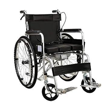 Silla de ruedas Asistente Propulsada Luz Plegable para Personas Mayores con Discapacidad Portátil Viaje: Amazon.es: Hogar