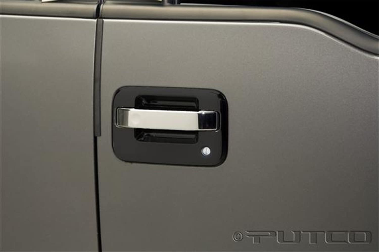 97-03 Ford F150 2DR Door Handle Cover Triple Chrome Plated ABS w//o PSG KH