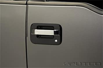 Putco Chrome Door Handle Covers for Ford F150 4DR (Center Section Only) & Amazon.com: Putco Chrome Door Handle Covers for Ford F150 4DR ...
