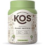 KOS Organic Plant Based Protein Powder, Chocolate Chip Mint - Delicious Vegan Protein Powder - Gluten Free, Dairy Free…