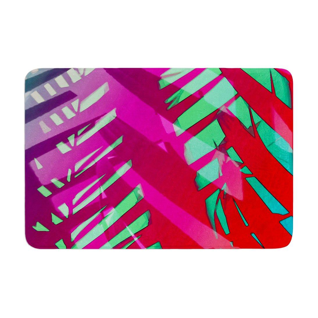 17 by 24 Kess InHouse Alison Coxon Hot Tropical Pink Red Memory Foam Bath Mat