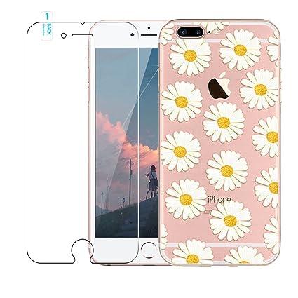 a770205598c Funda iPhone 7 Plus,Blossom01 Funda [con Protector de Pantalla de Vidrio  Templado]