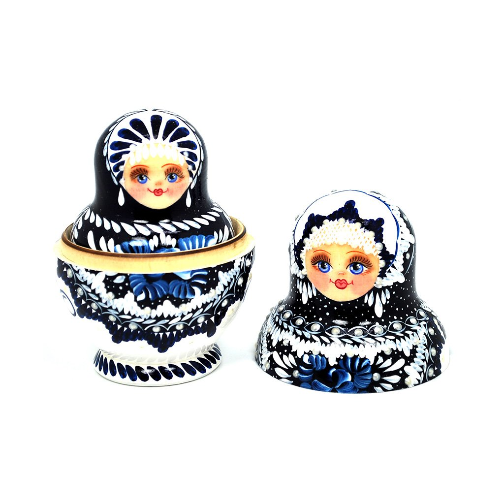 Unique Museum Quality Artist Signed Russian Hand Painted Nesting Dolls Set of 10 pcs Christmas Gift by Gabriella's Gifts (Image #2)