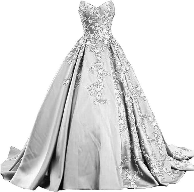 White Lace Gothic Wedding Dress