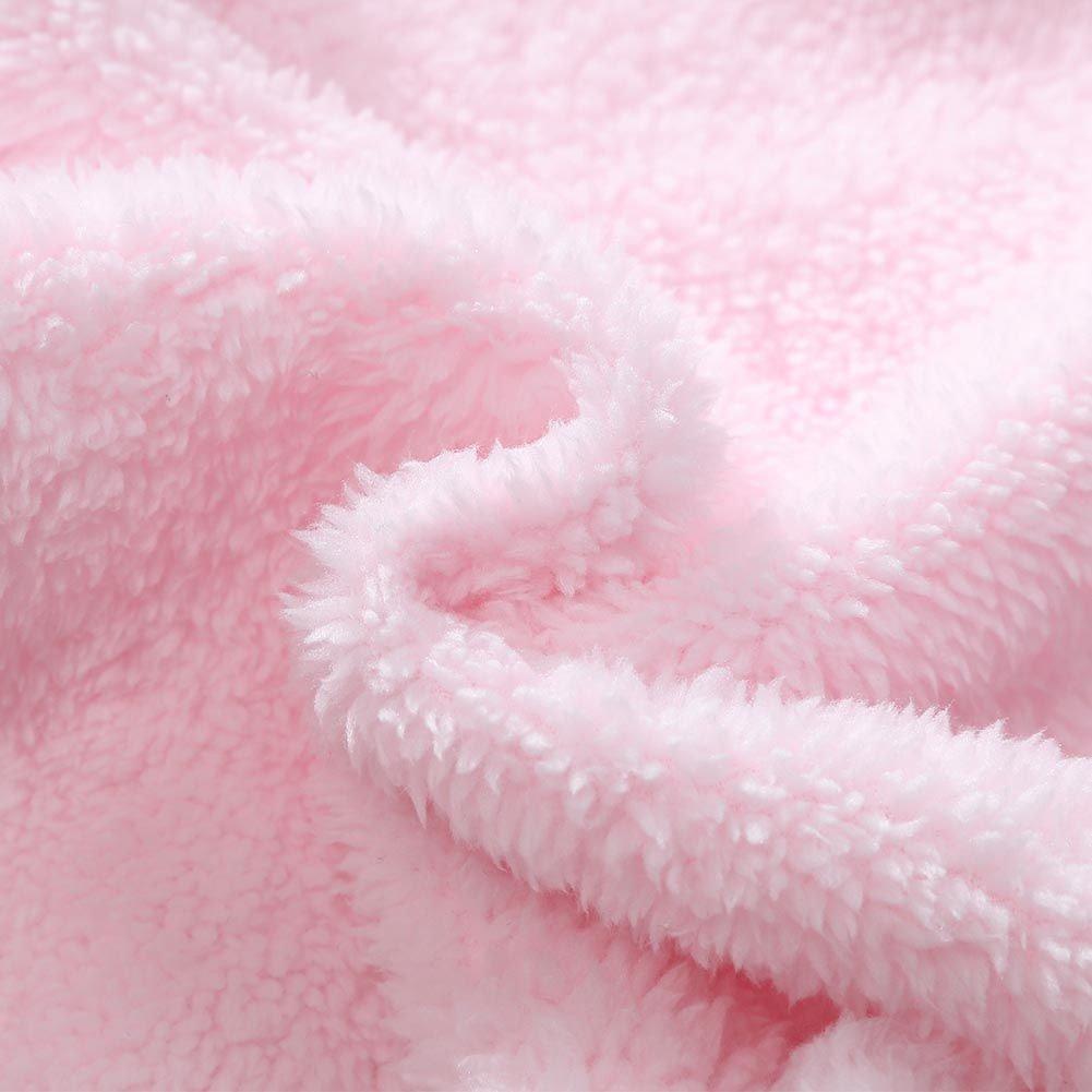 Brightup S/äuglings Winter Footies Baby M/ädchen und Jungen Fleece Overall Footed Strampler Body Overalls Outfits