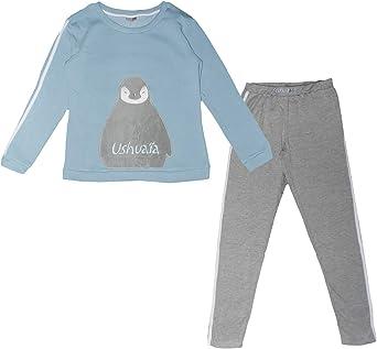 Pijama Largo para Hombre Forro Polar, algod/ón USHUAIA