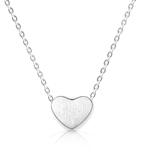 192e14da0adfd Altitude Boutique Heart Necklace for Women 18kt Gold Rose Gold or Silver  PlateChoker or Long Necklace Friendship Dainty Womens Adjustable 15