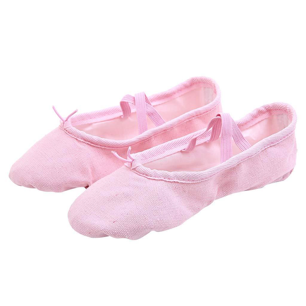 HCFKJ Women Dance Yoga Ballet Point Dance Fitness Gymnastics Soft Bottom Dance Shoes
