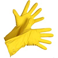 Fortane Reusable Rubber Cleaning Gloves Set | Hand Gloves Free Size for Washing, Cleaning Kitchen, Gardening Pair of