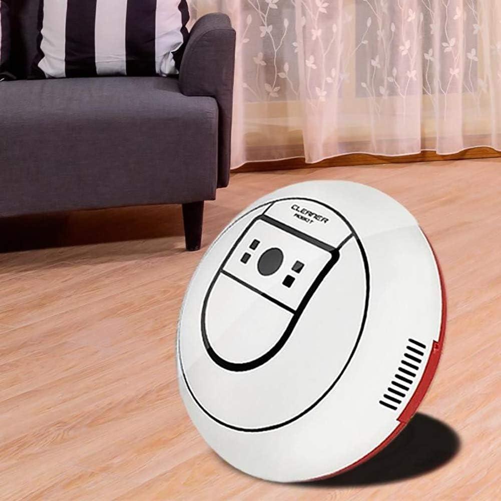 YHLZ Robot Balayer Creative Accueil Nettoyage automatique Toy Machine à puce Aspirateur Mini automatique cadeau à induction Aspirateur Robot Balayer (Color : White) White