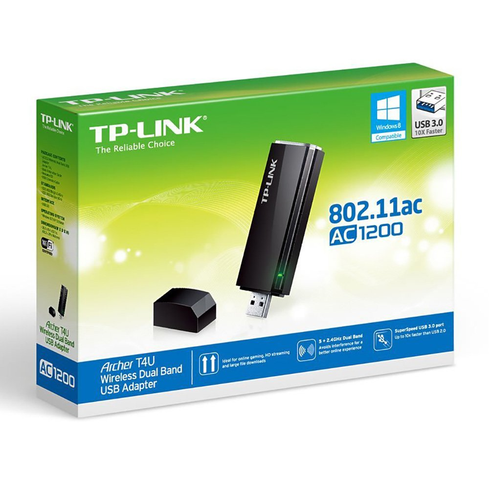 TP-Link AC1200 Wireless Dual Band USB Adapter (Archer T4U V1) by TP-Link