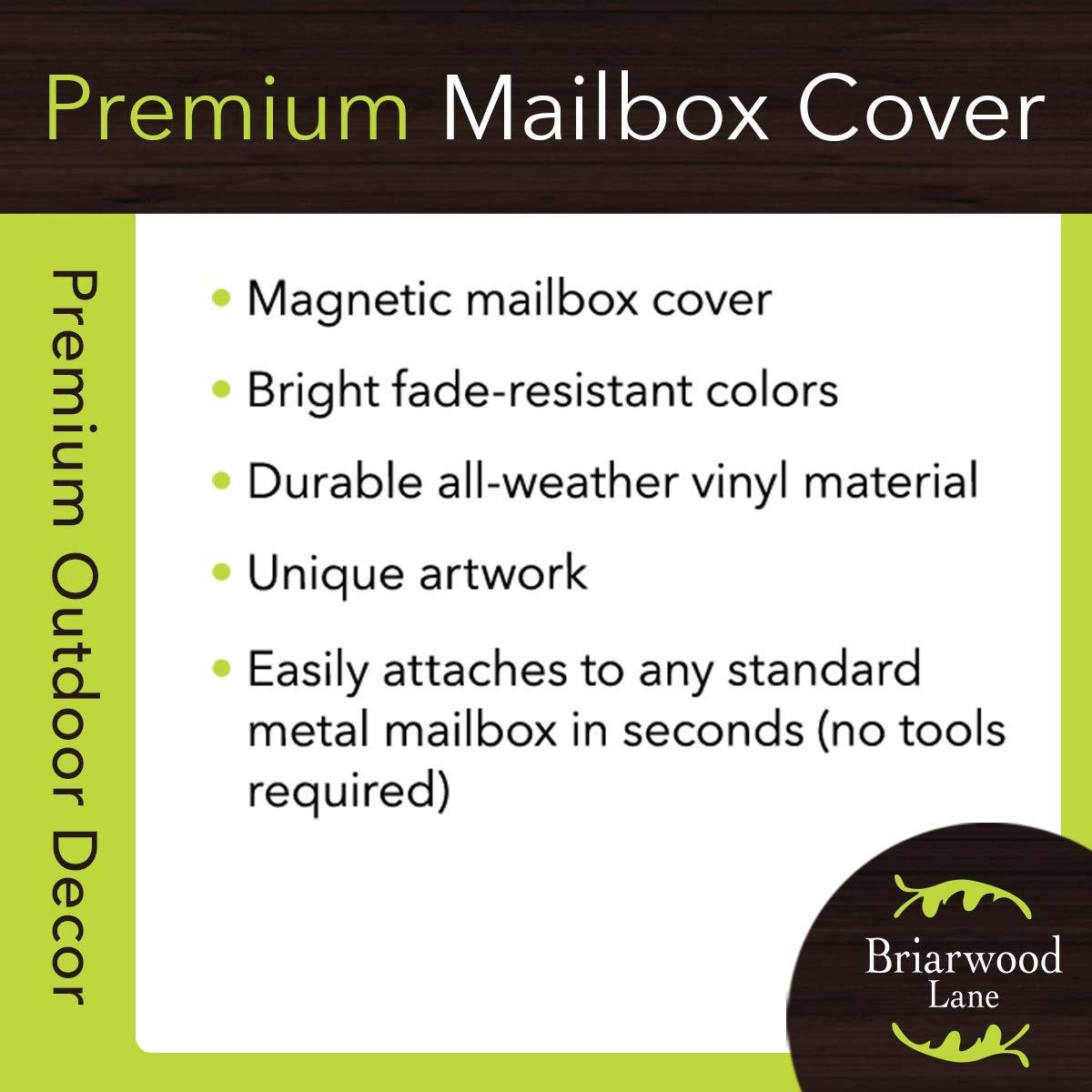 Briarwood Lane Merry Christmas Camper Primitive Mailbox Cover Fir Trees Standard