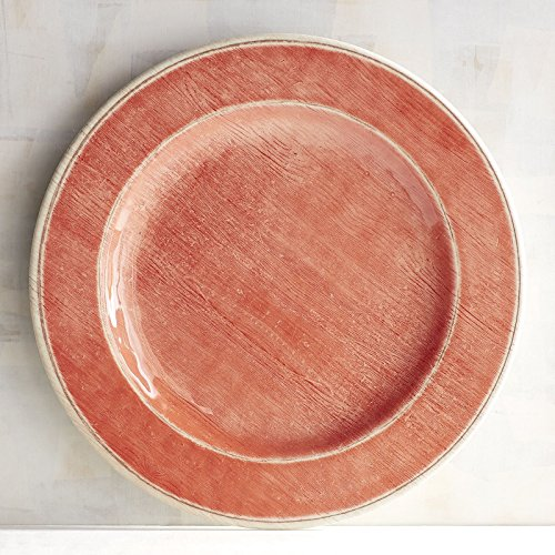 Multi Colored Melamine Dinner Plates - Set of 5 (Patio Coral) (Melamine One Pier Plates)