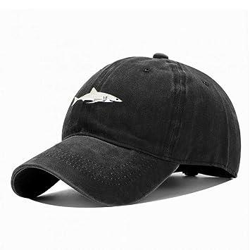 YUANBAOG Top Fashion Washed Gorra de béisbol Hombres Pink Shark ...