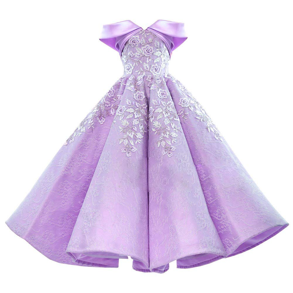 purplec Liaoye Women's Lace Appliques Formal Prom Dress Off Shoulder Evening Dress Party Ball Gowns