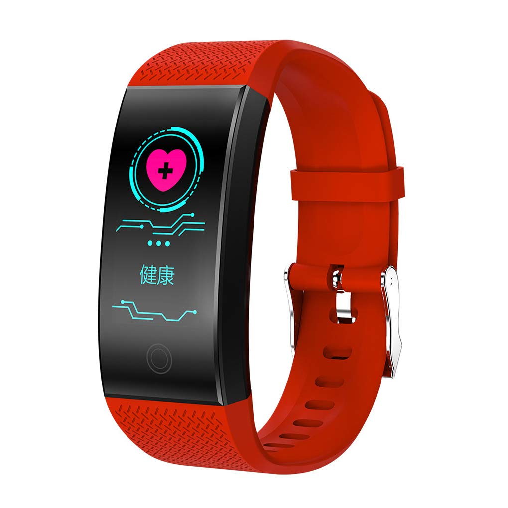 Hotaluyt Intelligent Band Color Screen IP67 Waterproof Heart Rate Fitness Bracelet Blood Oxygen Long Standby Wristband