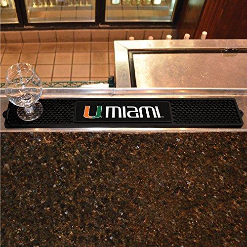 FANMATS NCAA University of Miami Hurricanes Vinyl Drink Mat