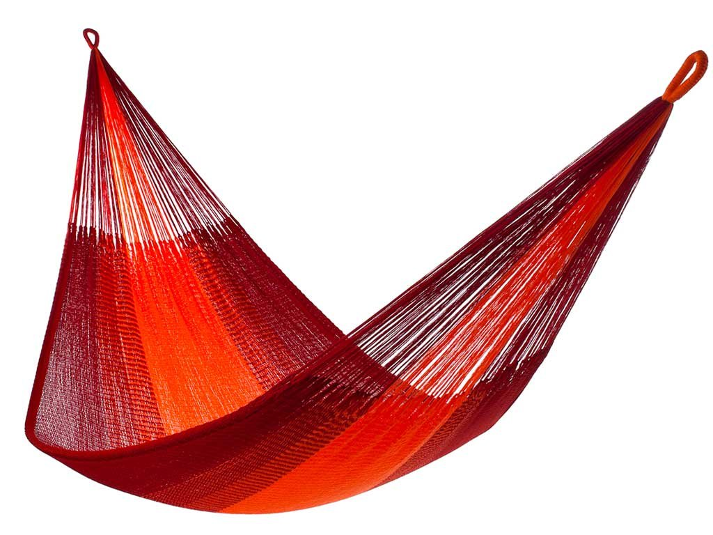 "Yellow Leaf Hammocks - ""Sedona"" Hammock, TJ-Sedona, Classic Double Hammock, Fits 1-2 People (400 lbs), Red & Orange… - 100% hand-woven with over 3.5 miles of yarn Maximum Capacity: 400 lbs Optimal Hanging Distance: 9-12 ft//Optimal Hanging Height: 4-6 ft - patio-furniture, patio, hammocks - 61J9XJ6wOrL -"