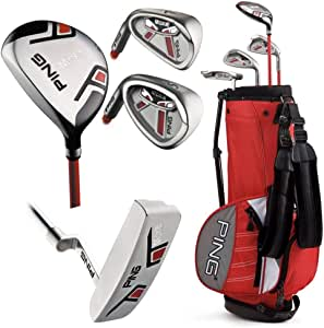 Amazon Com Ping Moxie Junior Golf Club Set Ages 10 11 Left Hand Golf Club Complete Sets Sports Outdoors