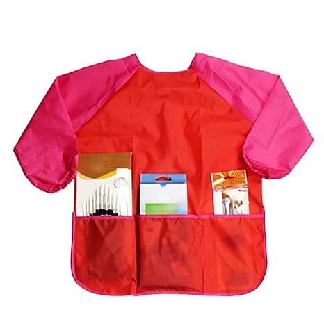 display08 niños niños de dibujo impermeable delantal bata de manga larga arte ropa