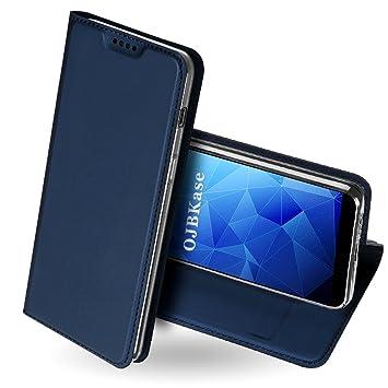 OJBKase Funda Samsung Galaxy A6 Plus 2018, Premium Piel sintética Billetera Carcasa Protectora Cartera y Funda Cubierta Interior TPU Protección De ...