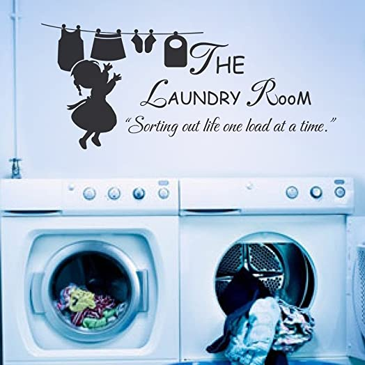 The Laundry Room Sorting Out Life One Load At A Time Vinyl Laundry Room Wall  Decal Part 61