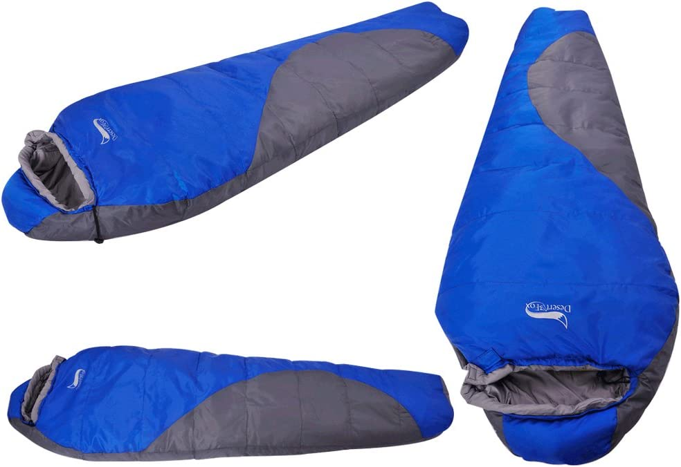 Vesub Mummy Sleeping Bag with Compression Sack Its Portable and Lightweight for 3-4 Season Camping Blue Traveling Hiking Backpacking and Outdoor Activities It/'s Portable and Lightweight for 3-4 Season Camping Backpacking and Outdoor Activities