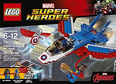 LEGO Super Heroes Captain America Jet Pursuit 76076 Building Kit (160 Pieces) from LEGO