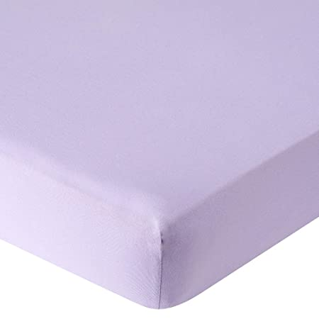 Single Lilac Jersey Stretchable Fitted Sheet 100% Cotton Super Soft All UK  Sizes White, Cream,Navy,Blue,Pink,Lilac,Yellow,Single,Double,King,Small  Double ...