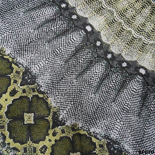 Écharpe antique poly tissu de soie design floral élégant enveloppe