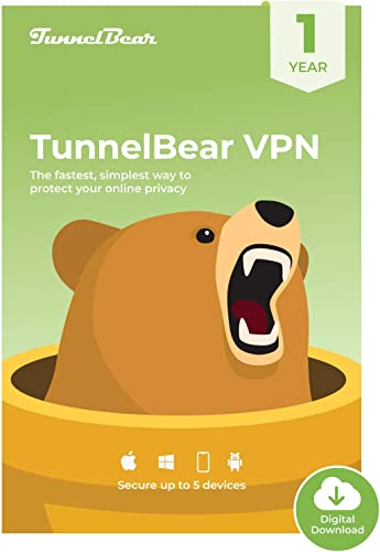 Amazon.com: TunnelBear VPN|Wifi and Internet Privacy|5 Devices ...