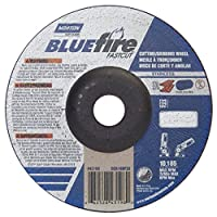 "Norton Blue Fire Plus Fast Cut Depressed Center Abrasive Wheel, Type 27, Zirconia Alumina and Aluminum Oxide, 7/8"" Arbor, 6"" Diameter x 1/8"" Thickness (Pack of 20)"