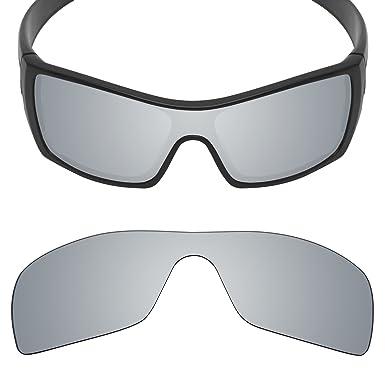 e2692480fc2 MRY POLARIZED Replacement Lenses for Oakley Batwolf Sunglasses - 20 Option  Colors (Silver Titanium -