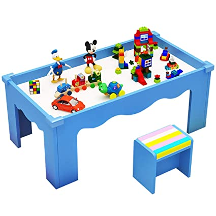 Juegos de mesas y sillas Mesa de madera para niños Mesa de juegos multifunción Juego de ...