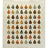 Island Batik Solstice Spiced Pears Quilt Kit by Fourth and Sixth Designs 68 by 76