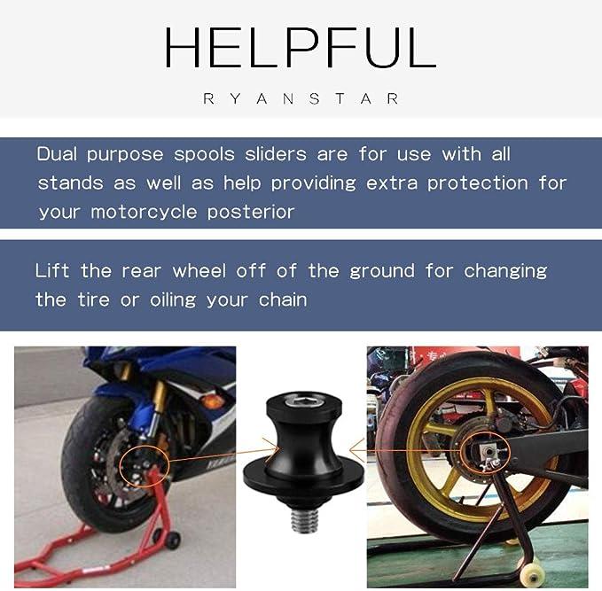 Motorcycle Rear Swingarm Spool Wheel Lift Stand For Suzuki SFV650 Gladius 2009