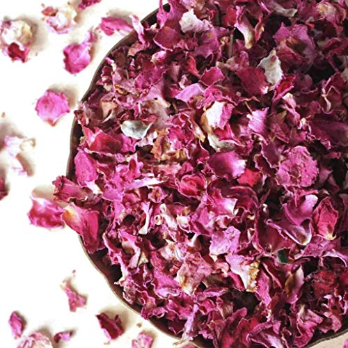 Organic Dried Rose Petals, Egypt, non-GMO, Culinary-grade (3.2 oz/90 ()