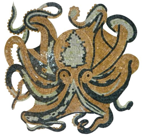 Octopus Hand Made Marble Mosaic Decorative Wall Floor Bath Pool