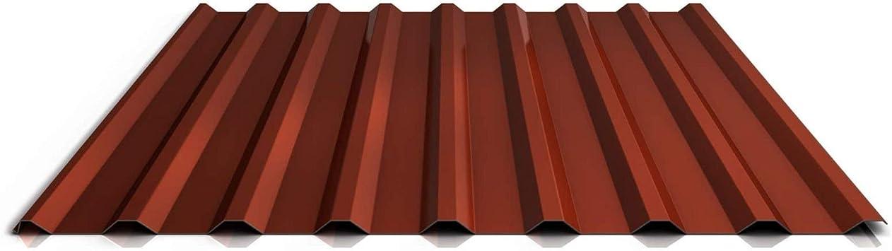 St/ärke 0,70 mm Profil PA20//1100TRA Trapezblech Farbe Moosgr/ün Dachblech Material Aluminium Profilblech Beschichtung 25 /µm