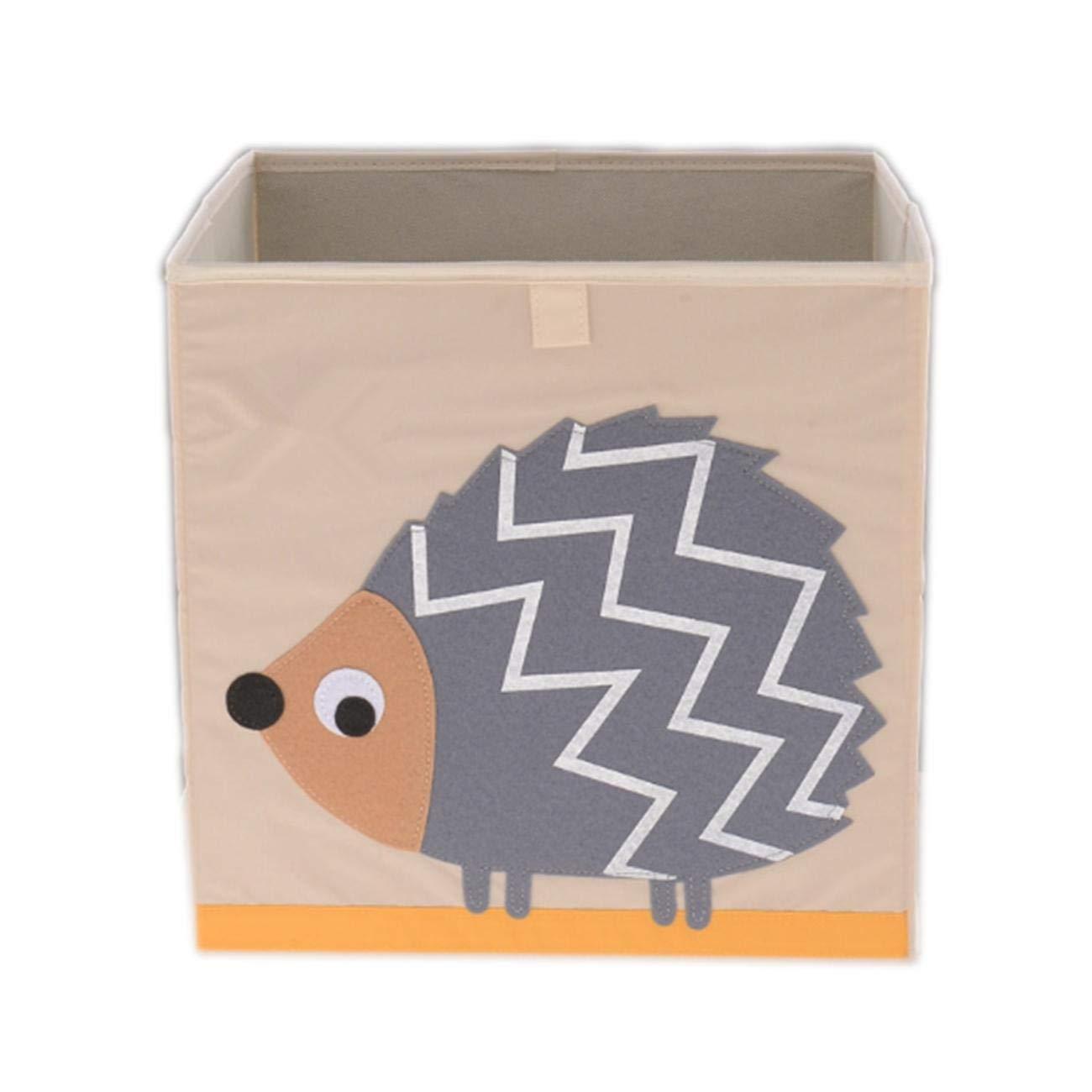 Luxuglow Cube Storage Box Collapsible Storage Cube Bin Canvas Cloth Storage Bin Toy Storage Box Foldable Fabric Storage Organizer Great for Nursery, Bedroom, Closet, Home Organization (Hedgehog)