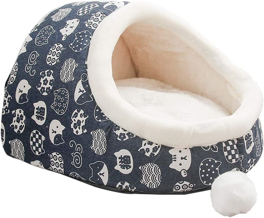 MeiHao Hogar de la casa de la Cama del Gato del Perro del Interior de Boutique, Camas del Animal doméstico Lavable Suave Caliente para los pequeños Perros y los Gatos Medios,M: Amazon.es: