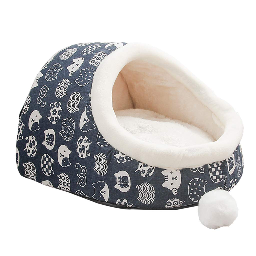 Large Home of Boutique Indoor Dog Cat Bed House, Pet Beds Warm Soft Washable for Small Medium Dogs and Cats,L