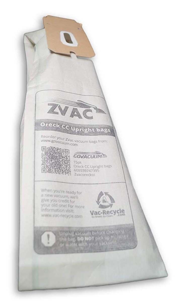Replaces Parts # CCPK8DW ZVac 8pk Compatible Vacuum Bags Replacement for Oreck CC Vacuum Bags /& Oreck XL Vacuum Bags 59220. PK2008