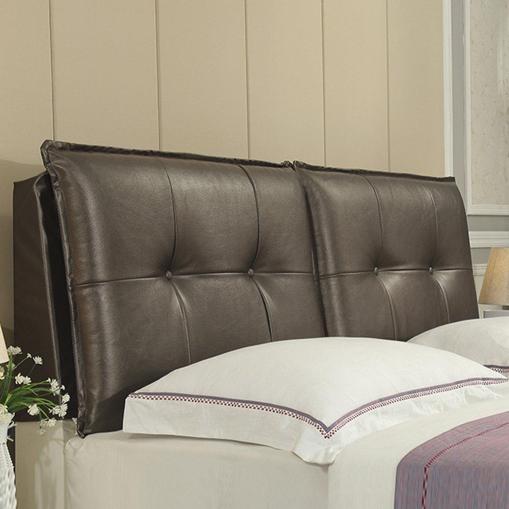 QIANGDA ヘッドボード ベッドバッククッション PUの大きなソファの背部 ウエストパッド ウォッシャブル シングルとダブルの場合 ベッドルーム、 5色 7種類のサイズ オプション ( 色 : Black brown , サイズ さいず : 120 x 10 x 60cm ) B079Z9MCR3 120 x 10 x 60cm Black brown Black brown 120 x 10 x 60cm